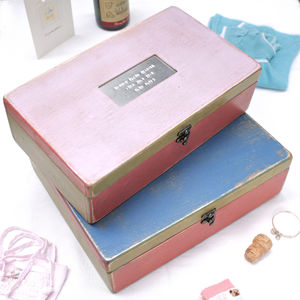 Personalised Baby Boy And Baby Girl Memory Box - storage & organisers