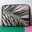 Laptop Sleeve With Palm Leaves Print, More Colours