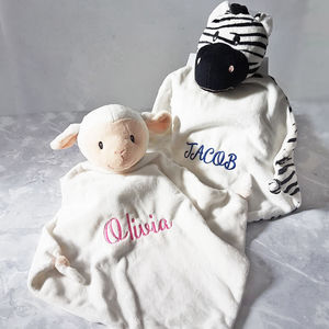 Personalised Animal Baby Comforter