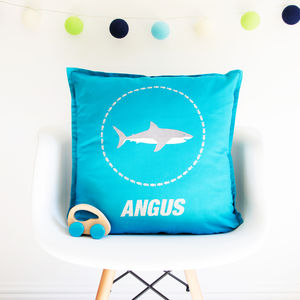 Personalised Glitter Shark Cushion - new in home