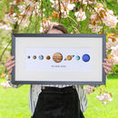 Personalised The Solar System Illustrated Print