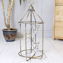 Gilted Gold Standing Tea Light Lantern