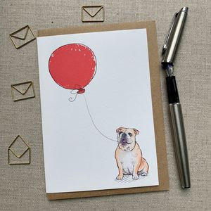 Personalised British Bulldog Birthday Card
