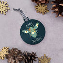 Personalised 'Bee Merry' Christmas Bauble
