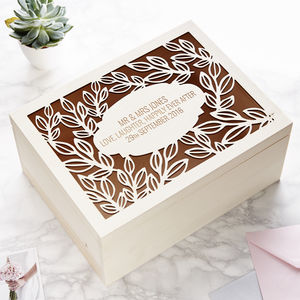Personalised Vine Wedding Keepsake Box - keepsake boxes