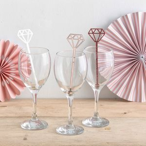 Diamond Drink Stirrers Set Of Six
