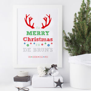 Personalised Christmas Print - baby & child sale