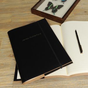 Recycled Leather Refillable A4 Crimped Journal