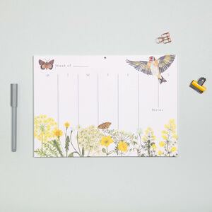 Goldfinch Weekly Planner With 52 Sheets