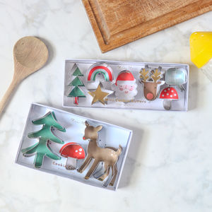 Christmas Shaped Biscuit Cookie Cutter Set - kitchen accessories