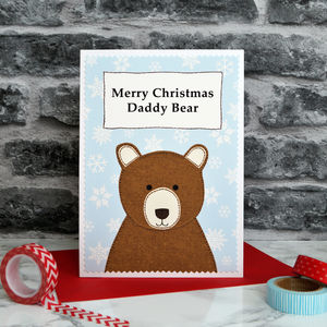'Daddy Bear' Personalised Christmas Card