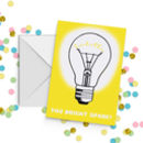 Bright Spark Graduation Exam Congratulations Card A5