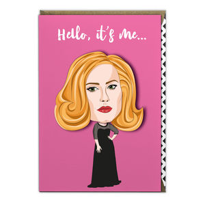 Adele Hello It's Me Greeting Card - shop by category