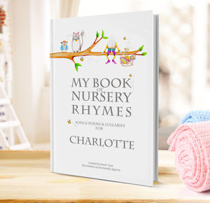 Nursery Rhymes And Personalised Poems Book - gifts for babies & children