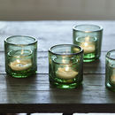 Barley Recycled Glass Tealights, Set Of Four