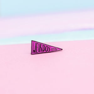25mm Weirdos Unite Flag Enamel Pin