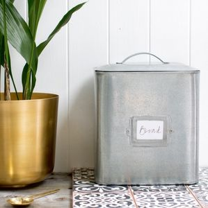 Galvanised Zinc Bread Bin - kitchen