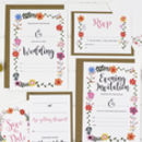 DIY Floral Wedding Invitations