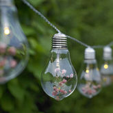 Glass Bulb And Flower String Lights - christmas decorations