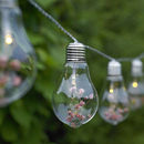 Glass Bulb And Flower String Lights