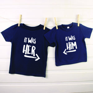 It Was Him! / It Was Her! Sibling Rivalry T Shirt Set - clothing