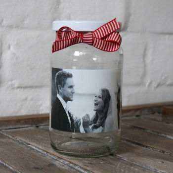 Personalised Valentines Photo Keepsake Jar
