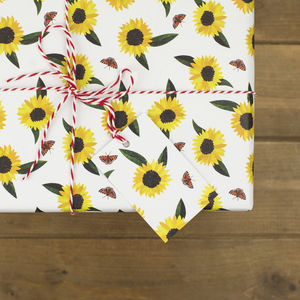 Sunflowers Wrapping Paper - gift wrap sets
