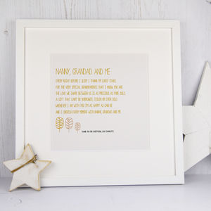 Personalised Grandparents Print With Poem