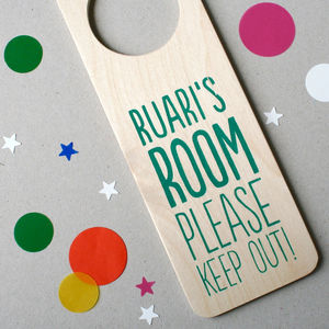 Personalised Wooden Door Hanger - door plaques & signs