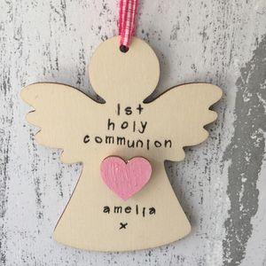 Personalised First Holy Communion Angel Keepsake - home sale