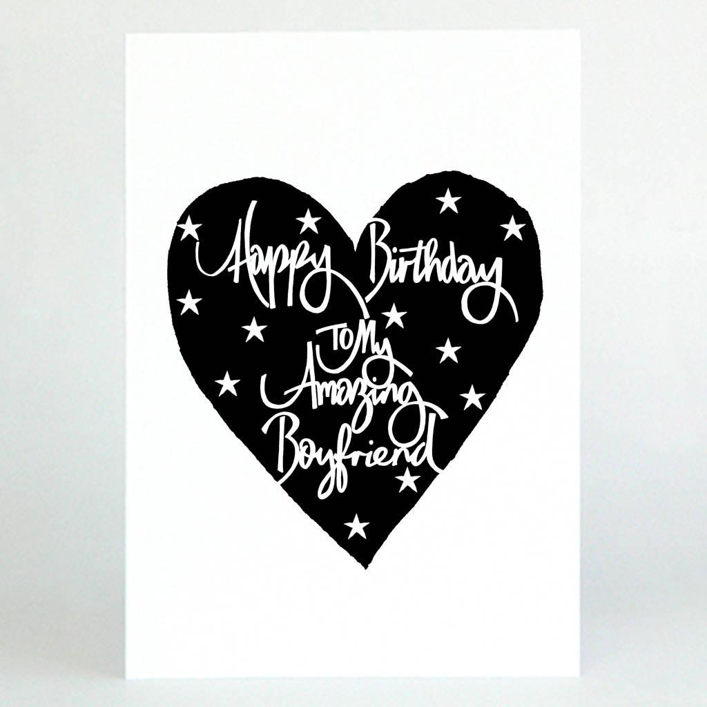Boyfriend Birthday Card By De Fraine Design London