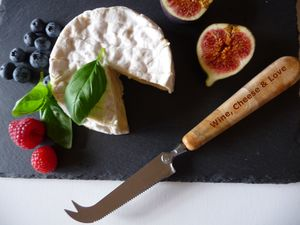 Personalised Cheese Knife, Juniper Wood Handle - gifts for cheese lovers