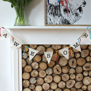 Alphabet Bunting Spell It Out