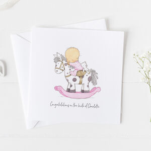 New Baby Card For Girls, Christening Card Girls ..3v8a