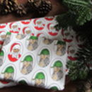 Christmas Wrapping Paper Set Of Two