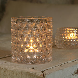 Dimpled Glass Tealight Holder - kitchen