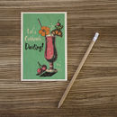 Let's Celebrate Darling! Wooden Postcard By Timbergram