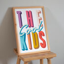 'The Cool Kids' Colourful Kids Bedroom Nursery Print