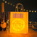 60th Birthday Party Bags Lanterns With Vellum