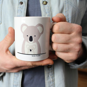 Koala Daddy And Me, Personalised Mug - mugs