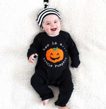 Halloween Personalised 'Pumpkin' Romper