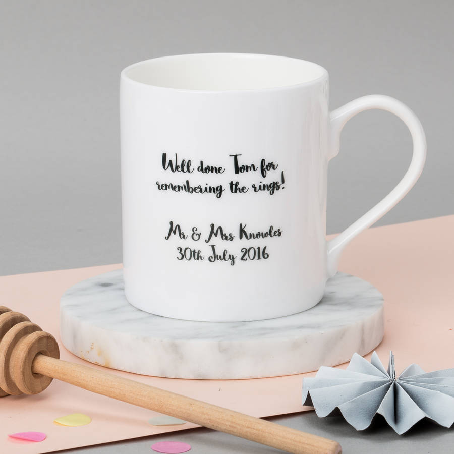 personalised wedding party mug by posh totty designs creates ...