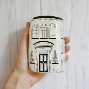 Handmade Illustrated Ceramic House - ornaments