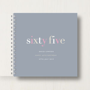 Personalised 65th Birthday Memory Book