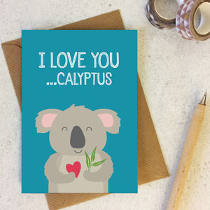 Funny Koala Animal Pun Love Or Anniversary Card