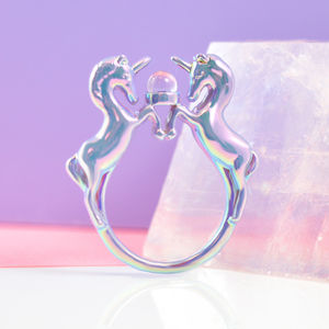 Lilac Iridescent Unicorn Ring - rings
