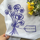 You Are Cherished Floral Hankie