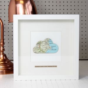Personalised Cloud Map Picture