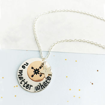 Personalised Compass Travel Necklace