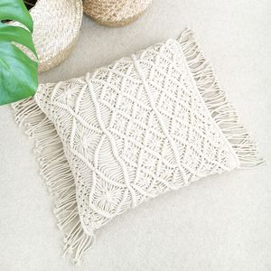 Boho Macrame Cushion
